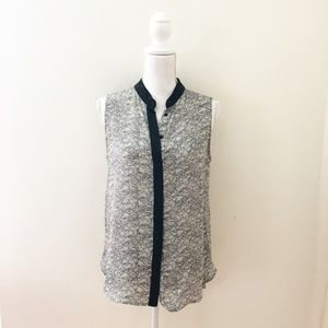 rag & bone Silk Button Up Tank